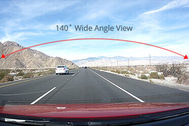 140˚ Wide Angle View
